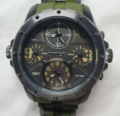 Invicta Coalition Forces 4 Time Zone Military Style Men's Watch 31138