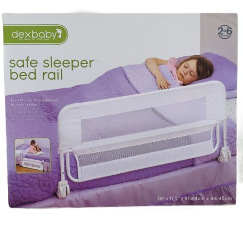 """dexbaby Safe Sleeper Bedrail 36""""x17.5"""" Extra Tall for Thick Mattresses Open Box"""