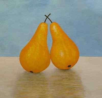 Pears original acrylic painting on canvas