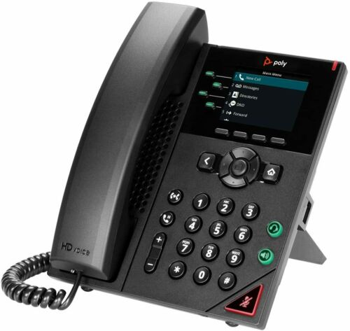 Polycom VVX 250 Business IP Phone (2200-48820-025) POE w/Power Adapter