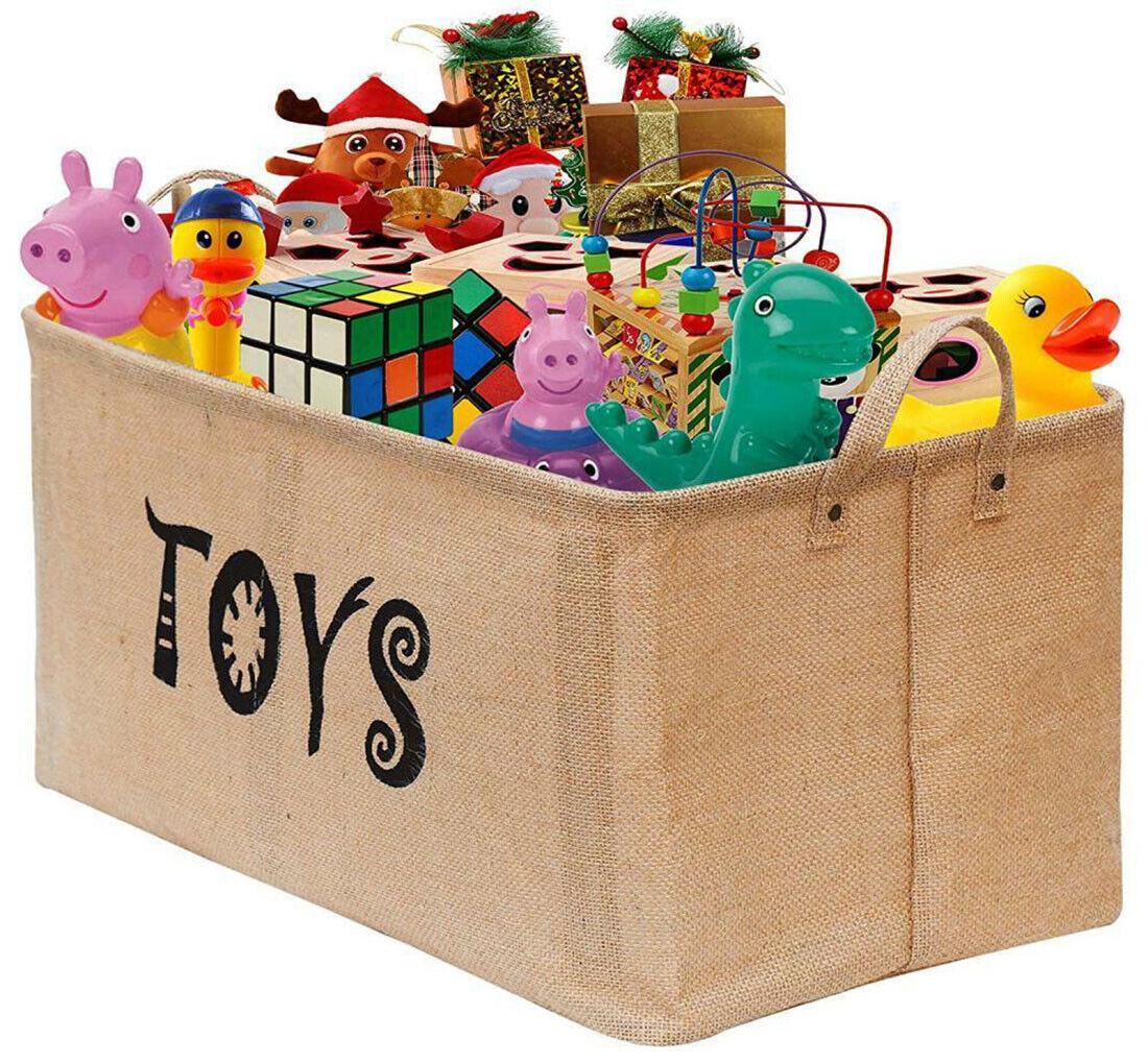 "22x15"" Big Toy Storage Box Large Basket Bin Toys Organizer f"