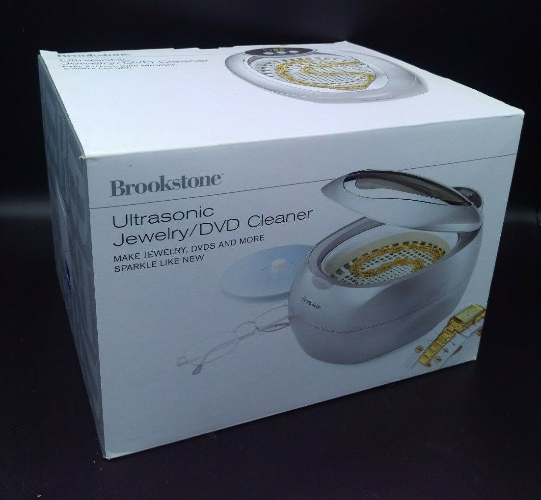 Brookstone Ultrasonic Jewelry DVD Cleaner NEW IN BOX