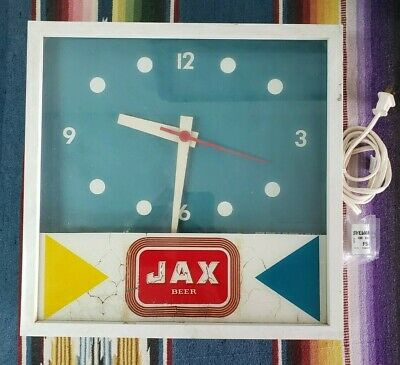 Vintage Jax Beer Advertising Wall Clock with Light