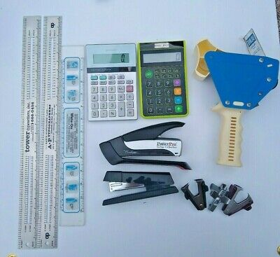 Office Supplies Staplers Calculators Tape Dispenser Various Lot