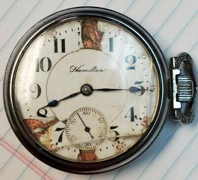 Vintage Railroad Grade 18s 21jewel Hamilton Grade 941 Pocket Watch