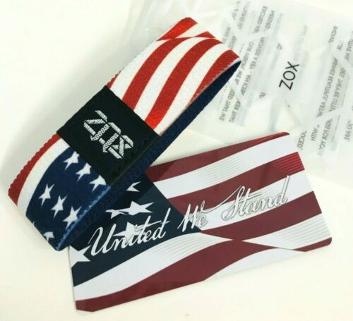 ZOX **UNITED WE STAND** Silver Strap med Wristband w/Card  NIP THE FLAG