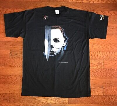 Brand New Vintage Halloween Michael Myers Horror Gore Bloody T-Shirt ADULT (Myer Mens Brands)