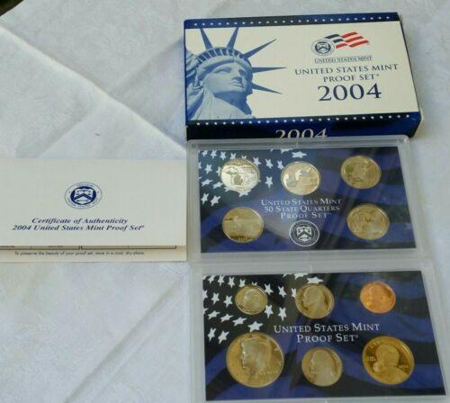 2004-S US MINT Proof Set in Original Box w/COA - 11 Coins