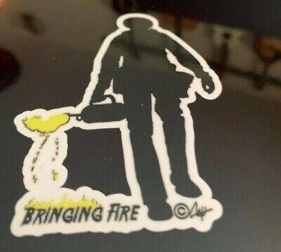 Stick N Image Bringing Fire Original Art Wildland Firefighter Decal Drip Touch