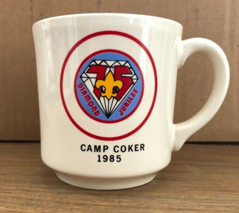 1985 Camp Coker Mug Pee Dee Area Council Santee Lodge BSA