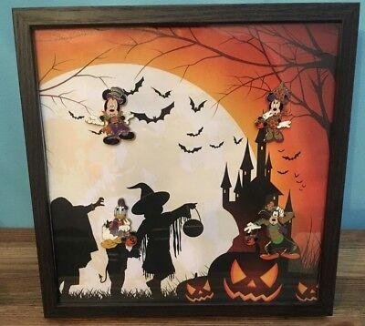 Cadre Pins Disney Disneyland Paris Halloween Mickey Minnie Dingo Pluto  (Disney Paris Halloween)