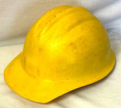 Bullard Hard Boiled Hard Hat With 6 Pt Dihedral Liner Yellow Vintage 3 Rib