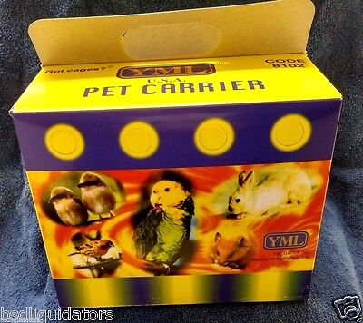 YML Lot of 15 Cardboard Carrier for Small Animals or Birds - Ships FREE to USA!