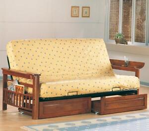 coaster futon frame warm brown