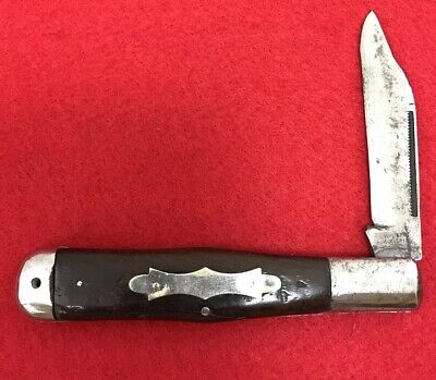 1908-1921 Wilbert Cutlery Co, Coke Bottle, 1 Blade, Wood Handles Vintage Knife