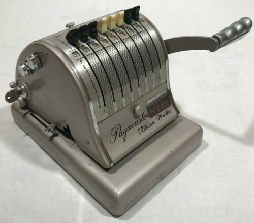 Vintage Paymaster Series 800 Check Ribbon Writer with key