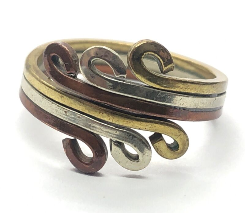 Vintage Ring Size 6 Band Wire Mixed Materials