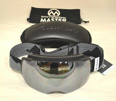 Ski Goggles PRO - Frameless, Interchangeable Lens 100% UV400 Protection