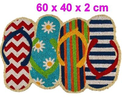 Felpudo alfombra diseño Chanclas 60 x 40 cm,superficie fibra de coco,decoracion