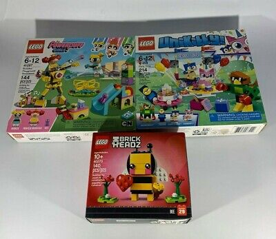 The Lego Brick Headz-The Powerpuff Girls Lego-UniKitty Party Time Lots of 3