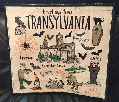 Awesome Big Halloween Themed Reuseable Shopping Grocery Bag Dracula Trick Treat - Awesome Halloween Treats