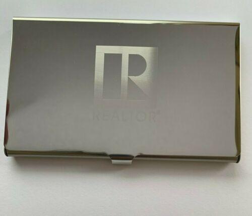 Lazer Engraved Realtor Logo Business Card Holder (Silver)