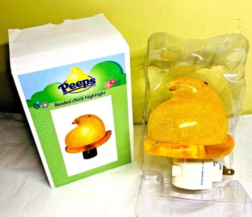 Rare! PEEPS Beaded Chick Yellow Nightlight Midwest CBK Marshmallow Just Born NEW
