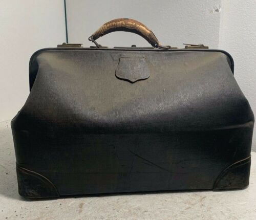 Antique 1890s - 1920s Leather Doctor Bag