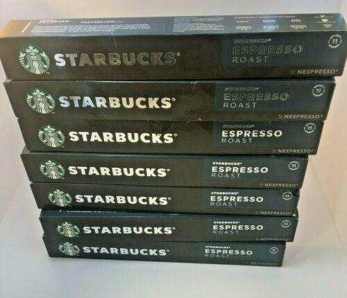 70 Starbucks Espresso Roast by Nespresso 10 Capsules x 7 Pack Coffee NOT EXIRED!