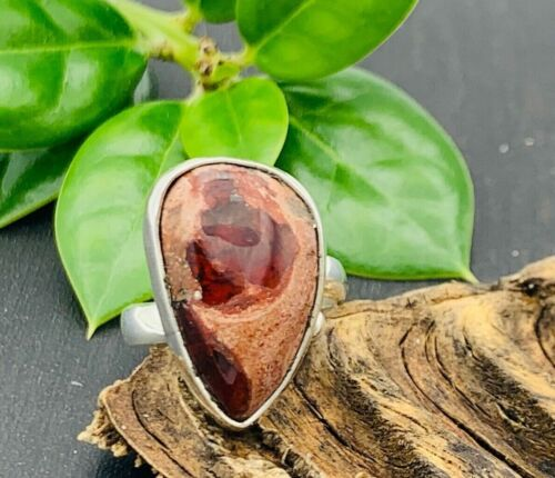 Taxco Mexican Fire Opal Ring Size 9250 Sterling Silver Mexico 6 1/2 size 6.5