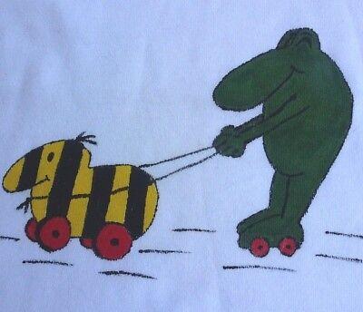 NEU*104* JANOSCH * Kids & Friends *Tigerente und Frosch* FAN Langarm Shirt,Weiss