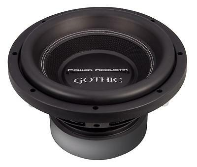 "NEW Power Acoustik Gothic GW3-10 1000 Watts 10"" Dual 2 Ohm Car Audio Subwoofer"