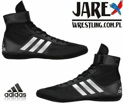 5663694a02312a adidas Combat Speed 5 Wrestling Shoes Boots Black Boxing MMA