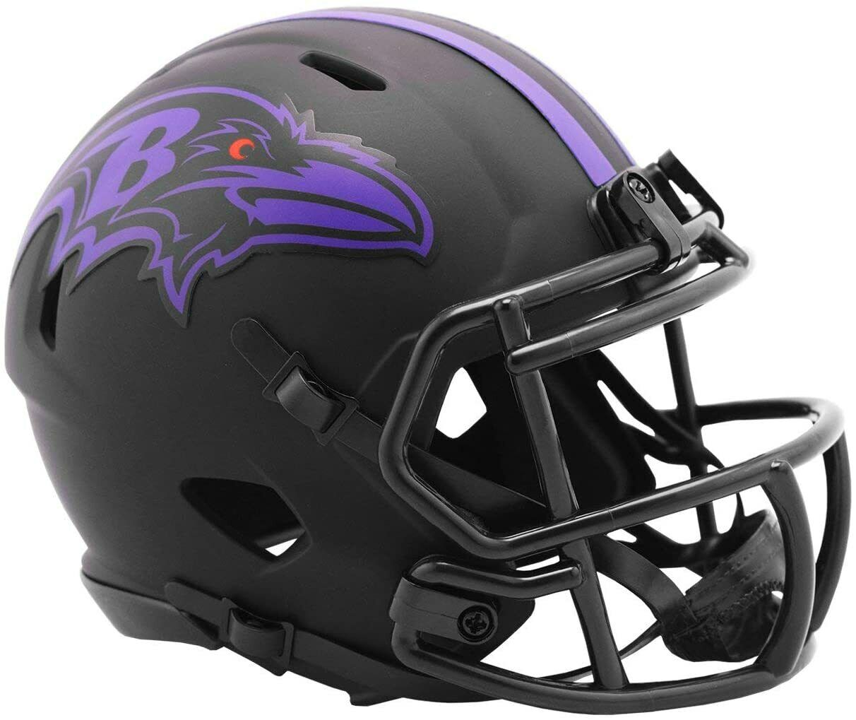 NFL Baltimore Ravens Eclipse Mini Helm Speed Riddell Footballhelm Football