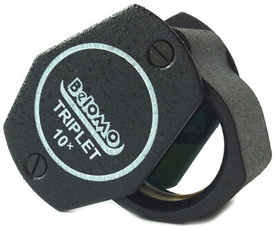 "BelOMO 10x Triplet Loupe Magnifier. 21mm (.85"") Jewelry Instrument. US Edition"