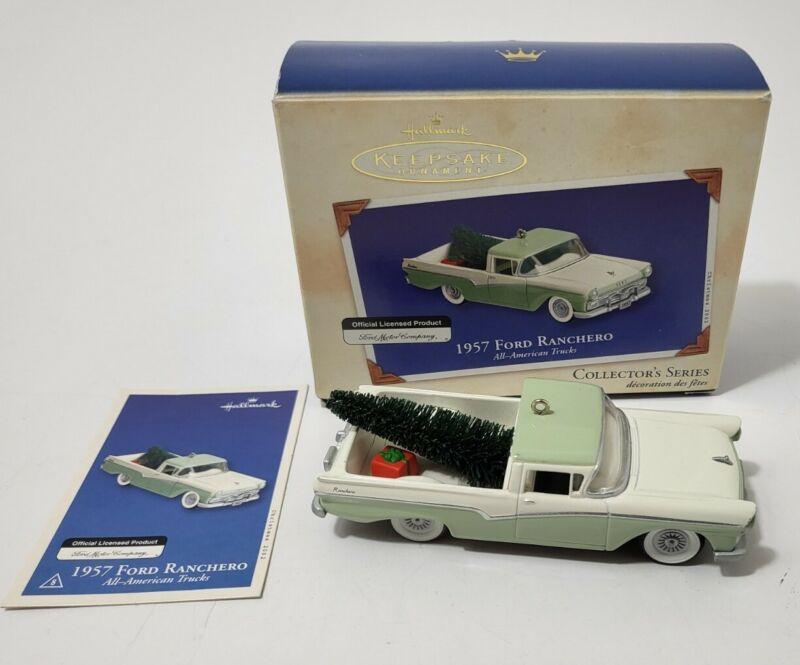 Hallmark Keepsake Ornament 1957 Ford Ranchero All American Trucks #8 2002