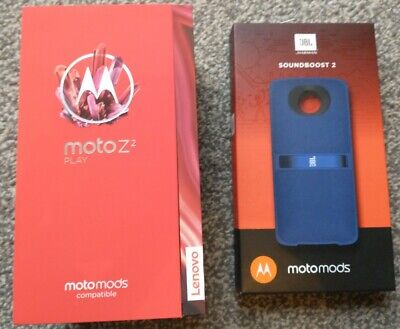 Moto z2 play. Boxed with Soundboost speaker mod. 64GB. Unlocked. Android. Boxed