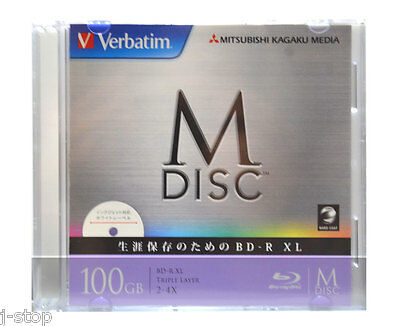 1000 Years Data Archival Grade Verbatim M-DISC 100GB BDXL 4x Printable Bluray