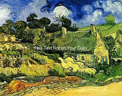 Thatched Cottages at Cordeville by van Gogh Canvas Print or Fine Art Poster NEW