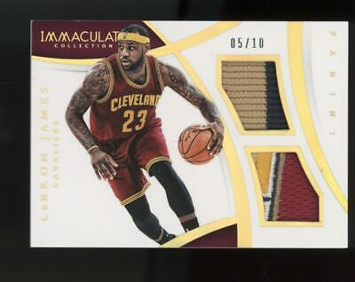2014 Panini Immaculate Collection LeBron James 05/10 Logo Patch Jersey