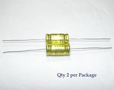 33uf 100v Non-polarized Electrolytic Axial Lead Capacitor 2 Pieces Np Bp
