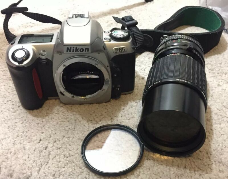 BUNDLE of 3 Nikon F65 Body Sigma Beta Lens