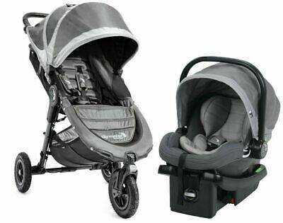 Baby Jogger City Mini GT Travel System Stroller w/ City Go Infant Car Seat Steel comprar usado  Enviando para Brazil