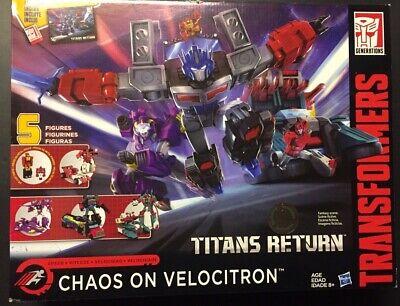 MISB Transformers Titans Return Chaos On Velocitron. NEW. TRU Exclusive. RARE!