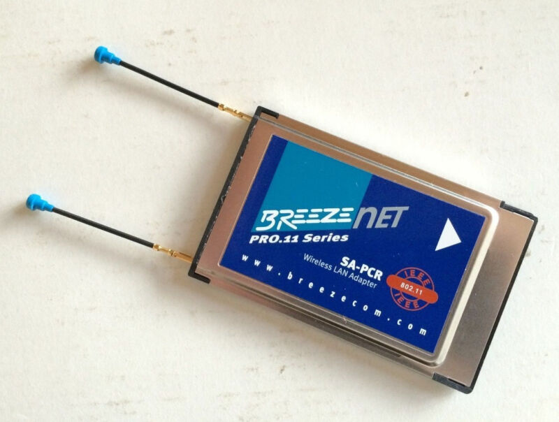 BreezeCom Breezenet PCMCIA SA-PCR Wireless 802.11 LAN Card New