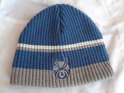 db3c221e4c4fd Spyder Beanie Snowboard Ski Knit Hat Blue Gray Kids Youth Tobogan