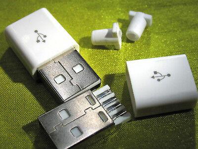 3 X Stecker (3x USB Stecker, Typ A, 4 Pin,löten, Lötversion, für Ladekabel, Datenkabel usw.)
