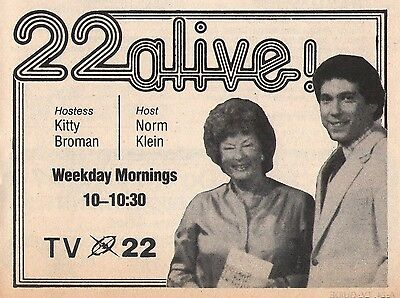 1980 Wwlp Tv News Ad Kathryn Kitty Broman Norm Klein Springfield Massachusetts