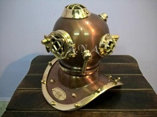 Brass Diving Divers Helmet Antique U.S Navy Mark V Vintage Maritime Collectible