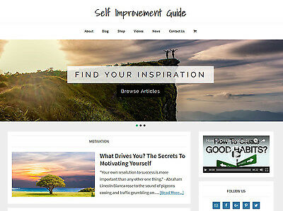 Self Improvement   Blog Store Premade Website Business For Sale Auto Content